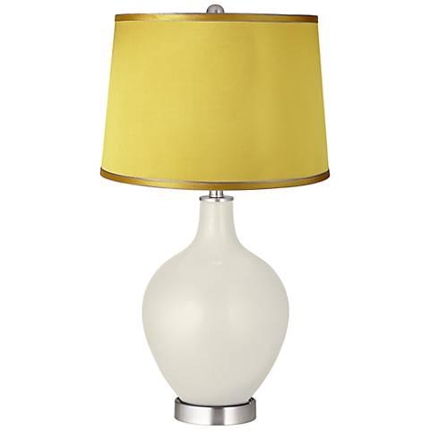 Vanilla Metallic - Satin Yellow Shade Ovo Table Lamp