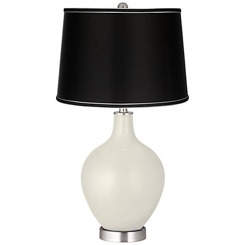 Vanilla Metallic - Satin Black Shade Ovo Table Lamp