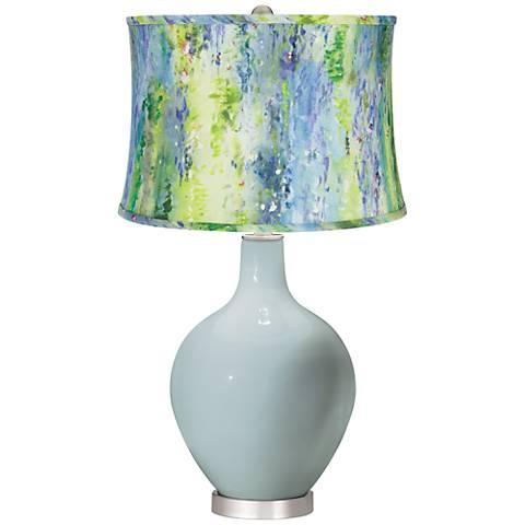Rain Cool Watercolor Shade Ovo Table Lamp