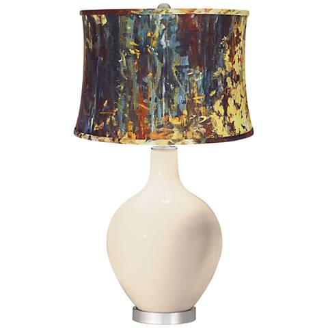 Steamed Milk Oil Paint Shade Ovo Table Lamp