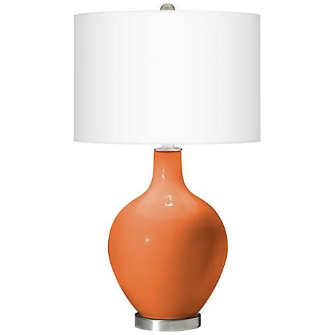 Celosia Orange Ovo Table Lamp