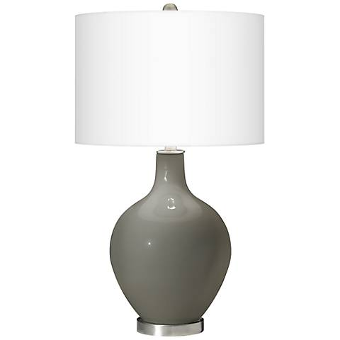 Gauntlet Gray Ovo Table Lamp