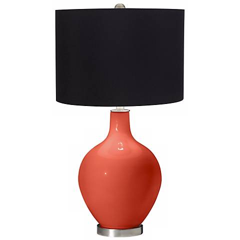 Daring Orange Black Shade Ovo Table Lamp