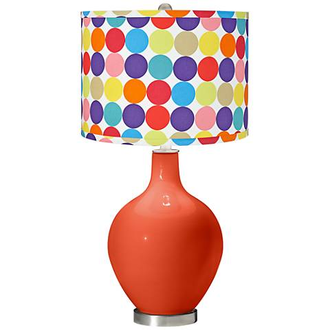 Daredevil Multi-Color Circles Shade Ovo Table Lamp