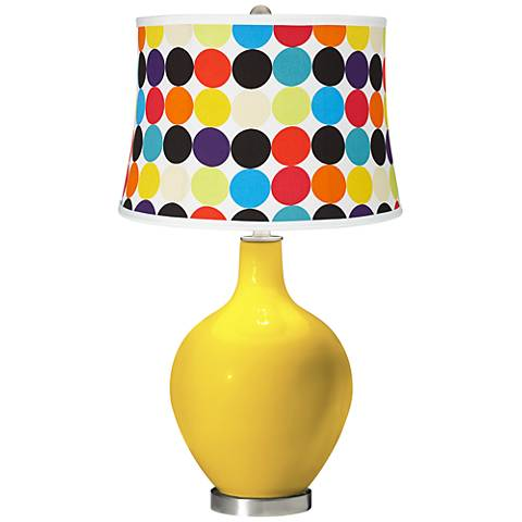 Citrus Multi Mod Circles Shade Ovo Table Lamp