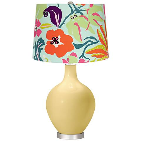 Butter Up Bright Tropical Shade Ovo Table Lamp