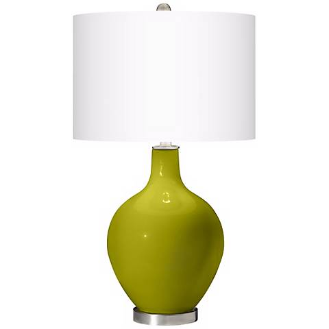 Olive Green Ovo Table Lamp