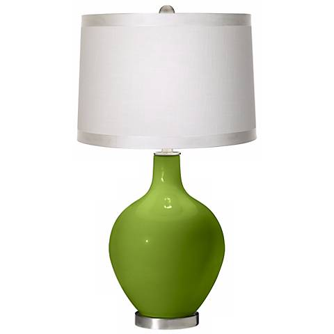 Gecko White Drum Shade Ovo Table Lamp