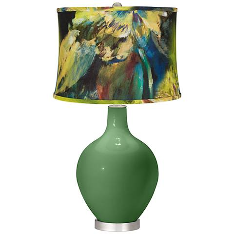 Garden Grove Abstract Floral Shade Ovo Table Lamp