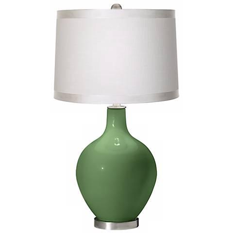 Garden Grove White Drum Shade Ovo Table Lamp