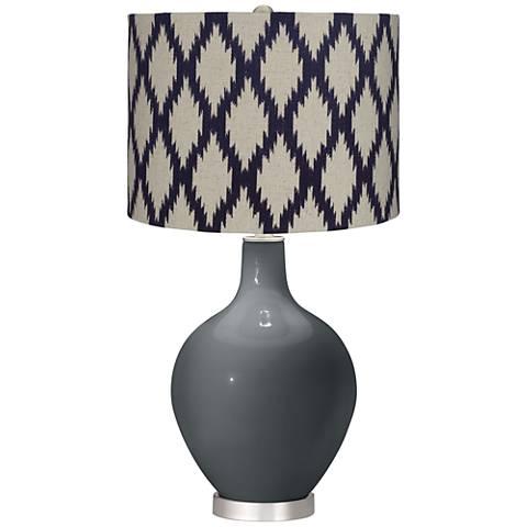 Black of Night Beige Diamonds Ovo Table Lamp