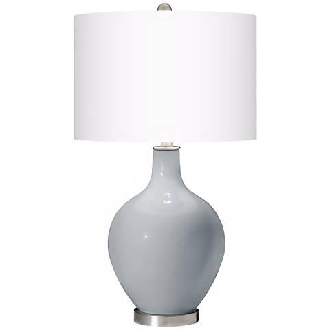 Uncertain Gray Ovo Table Lamp
