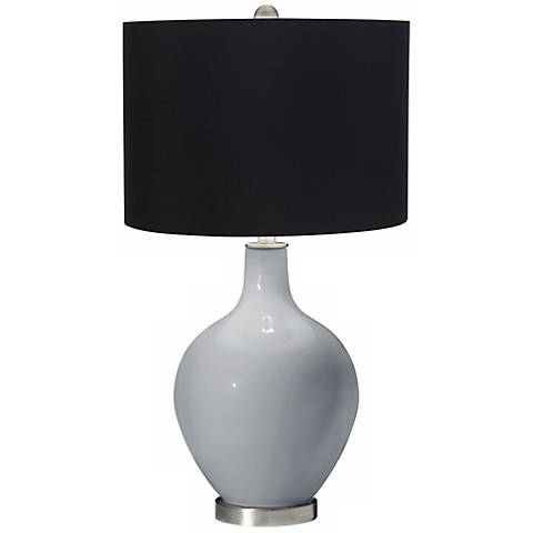 Uncertain Gray Black Shade Ovo Table Lamp