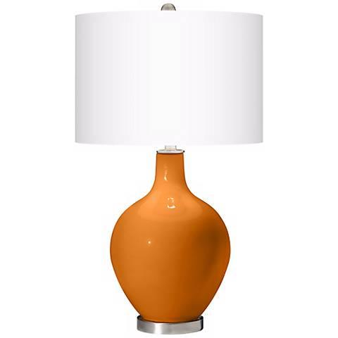 Cinnamon Spice Ovo Table Lamp