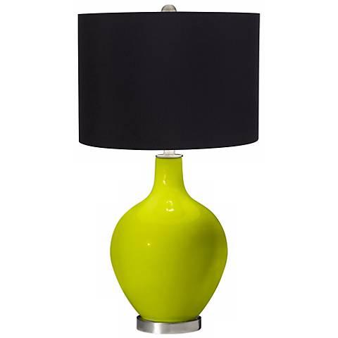 Pastel Green Black Shade Ovo Table Lamp