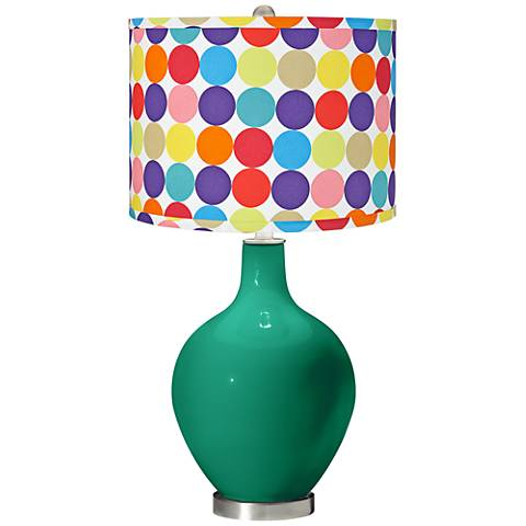 Leaf Multi-Color Circles Shade Ovo Table Lamp
