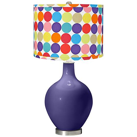 Valiant Violet Multi-Color Circles Shade Ovo Table Lamp