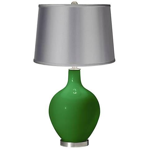 Envy - Satin Light Gray Shade Ovo Table Lamp