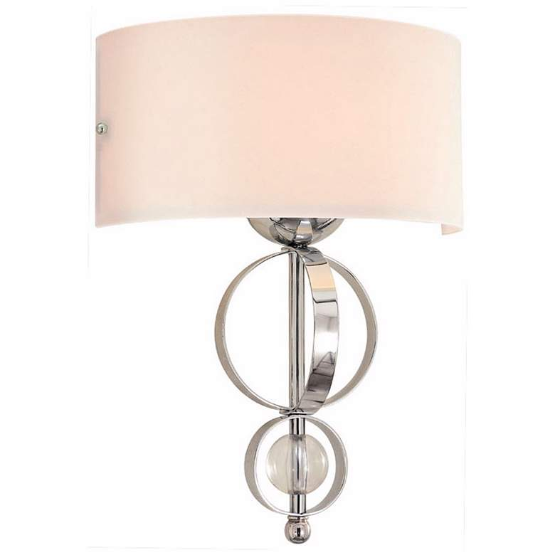 "Cerchi Collection 17"" High Chrome Wall Sconce"