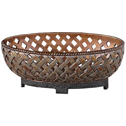 Uttermost Teneh Copper Bronze Decorative Bowl