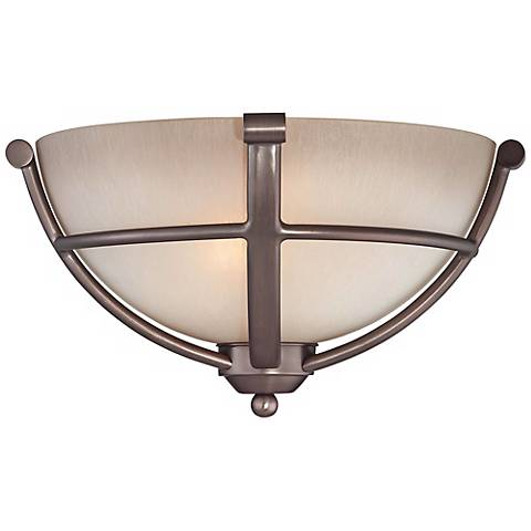 """Paradox Bronze 13"""" Wide Pocket Wall Sconce"""