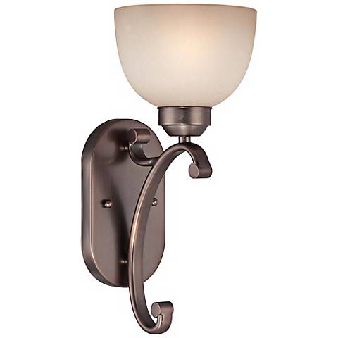 "Paradox 15"" High Harvard Court Bronze Wall Sconce"
