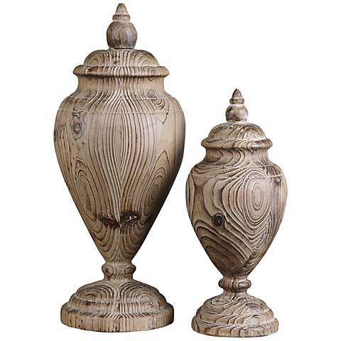 Uttermost Set of 2 Brisco Solid Wood Finials