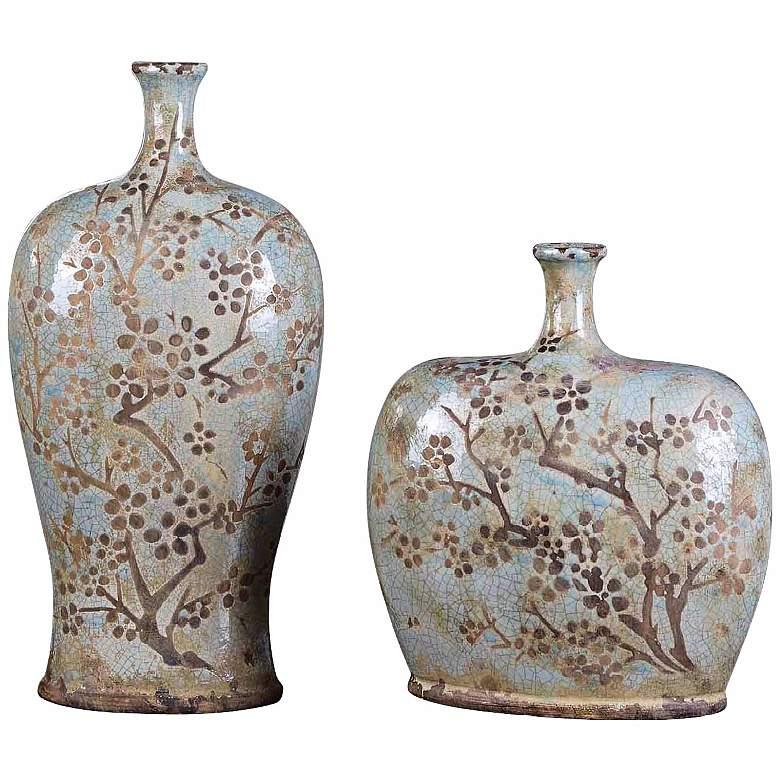 Set of 2 Uttermost Citrita Decorative Ceramic Vases