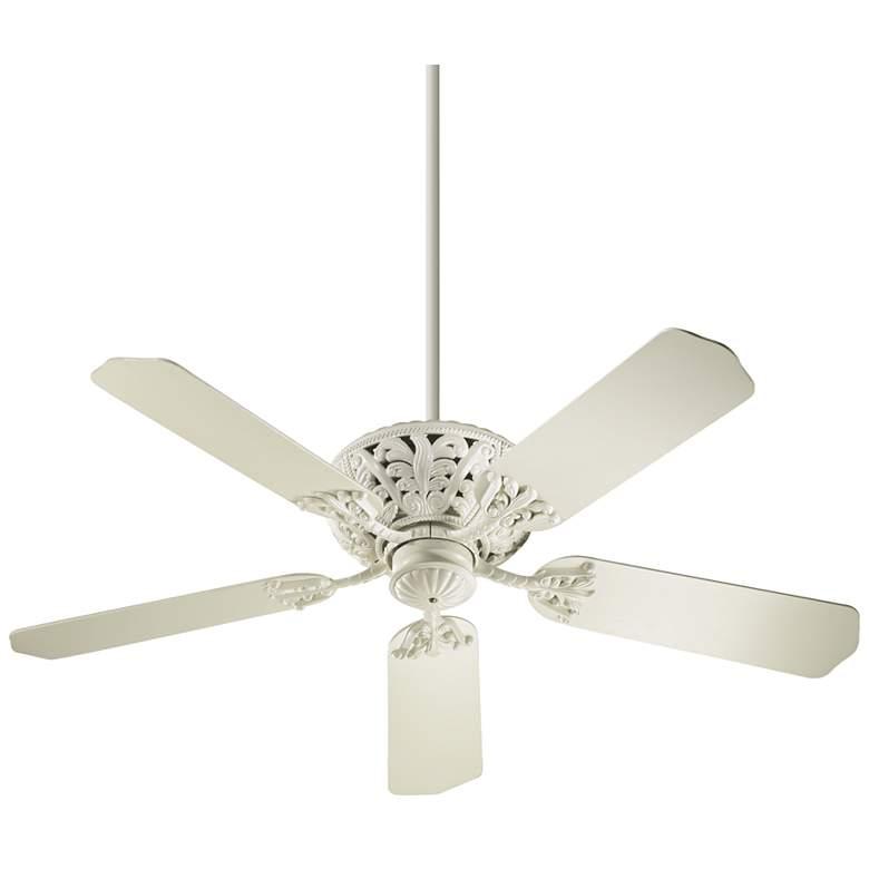 """52"""" Quorum Windsor Antique White Ceiling Fan"""