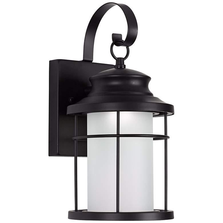"Warburton 13"" High Black LED Outdoor Wall Light"