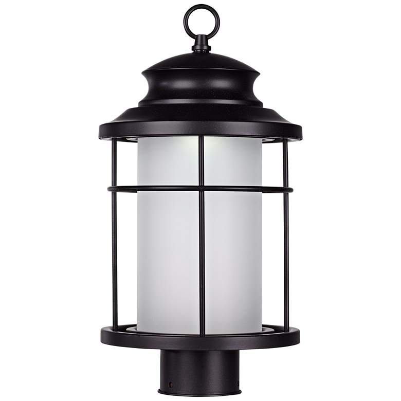 "Warburton 16 1/2"" High Black LED Outdoor Post Light"