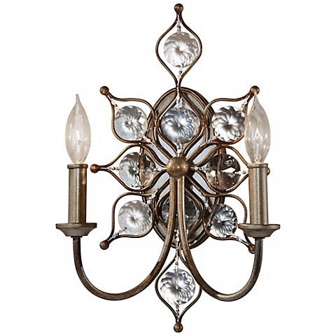 "Feiss Leila 16 1/4"" High Burnished Silver Wall Sconce"