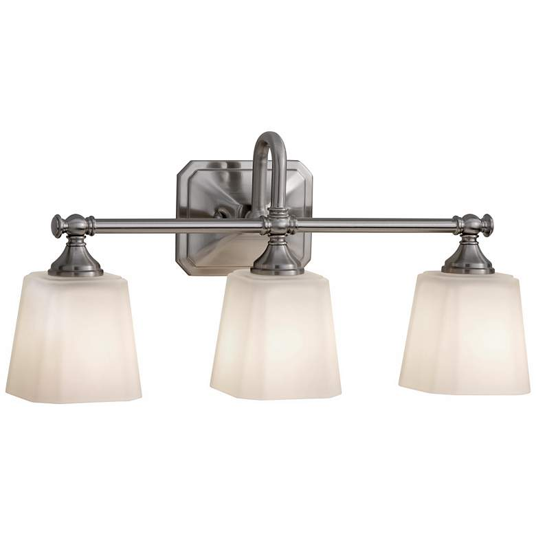 """Feiss Concord 3-Light 21"""" Wide Brushed Nickel Bath Light"""