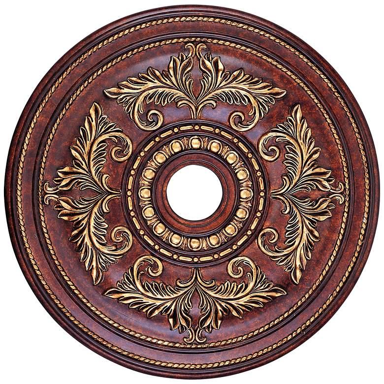 "Pascola 30 1/2"" Wide Verona Bronze Ceiling Medallion"