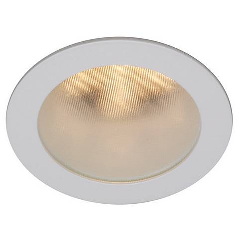 "WAC White 4"" LED Recessed Light Shower Trim"