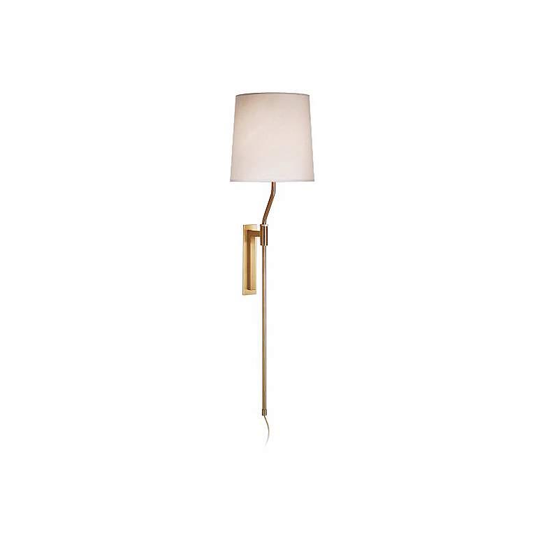 Sonneman Palo Satin Brass Adjustable Plug-In Wall Lamp