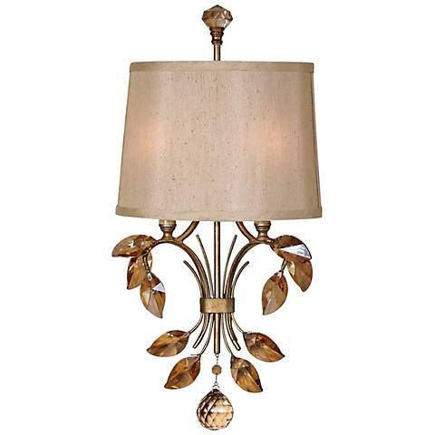 "Uttermost Alenya 21"" Wide Burnished Gold 2-Light Sconce"
