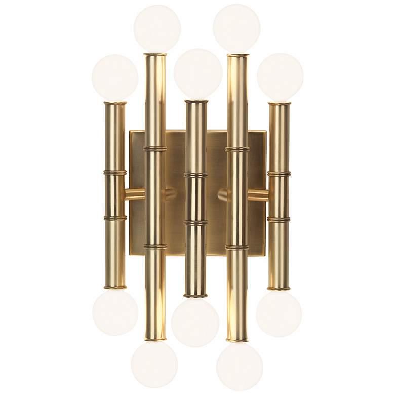 """Jonathan Adler Meurice 12"""" High Modern Brass Wall Sconce"""