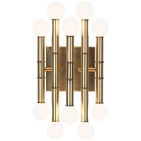"Jonathan Adler Meurice 12"" High Antique Brass Wall Sconce"