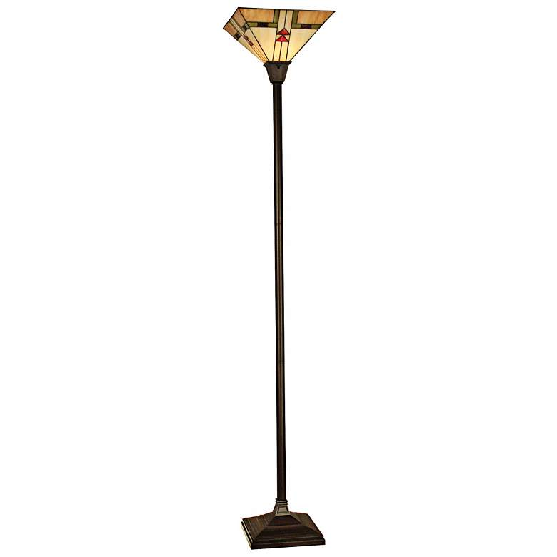 Dale Tiffany Arrowhead Mission Torchiere Floor Lamp