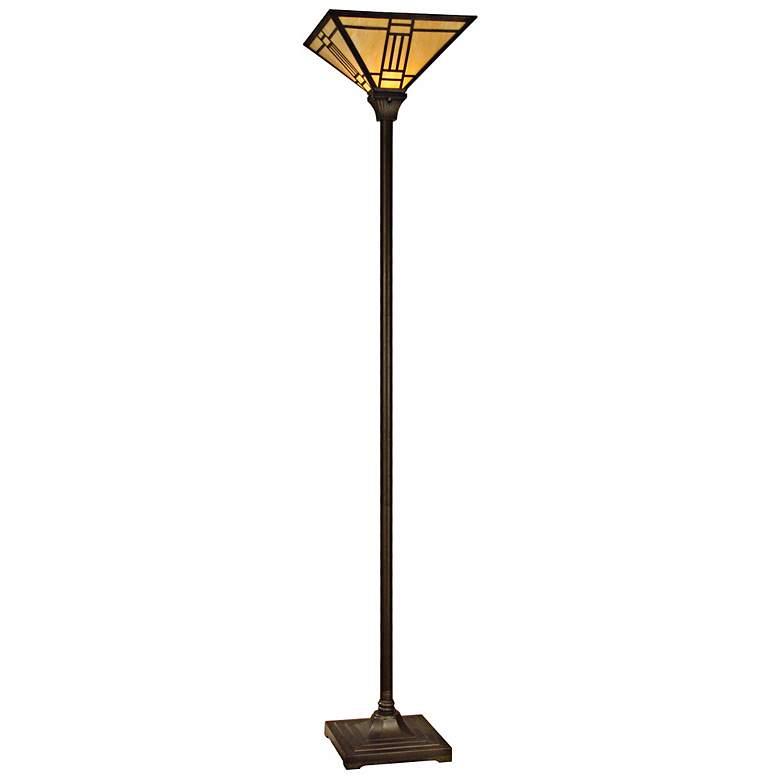 Dale Tiffany Noir Art Glass Torchiere Floor Lamp X3514