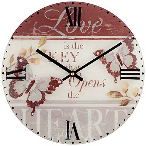 "Butterfly 12"" Wide Decorative Wall Clock"