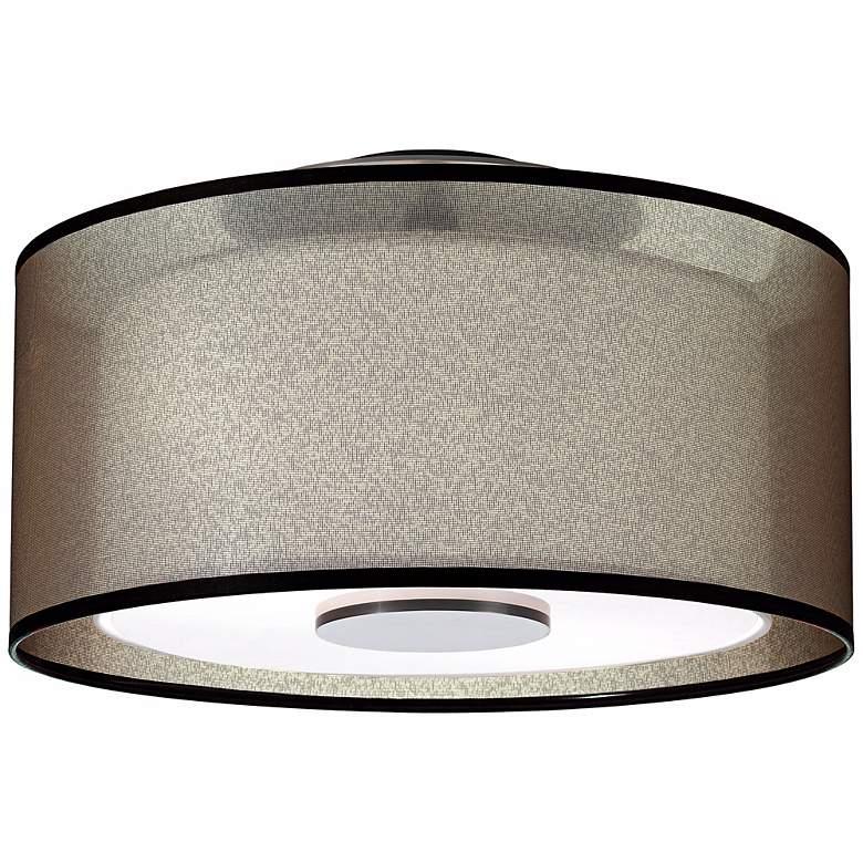 """Robert Abbey Saturnia 17 1/2"""" Wide Bronze Ceiling Light"""