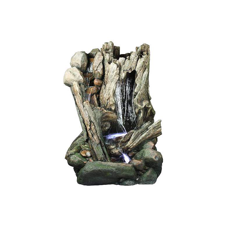 "Log Cascade 79"" High Large Outdoor Fountain with"