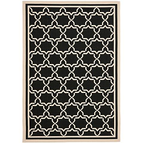 Courtyard Collection CY6916C Black Area Rug