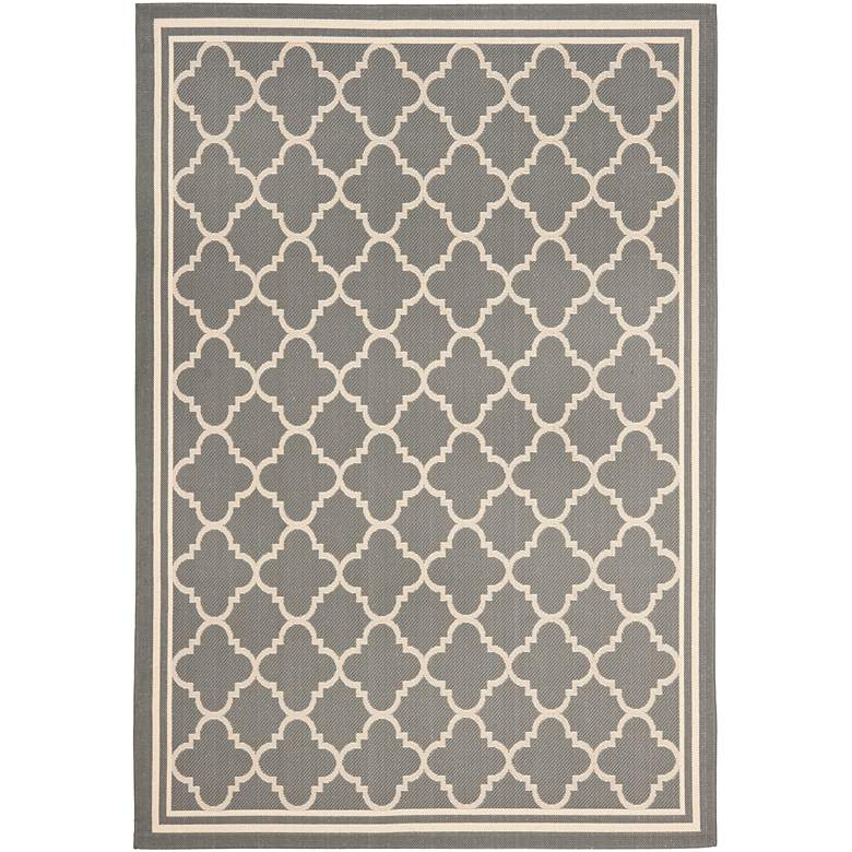 "Courtyard Collection CY6918C 5'3""x7'7"" Grey Area Rug"