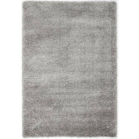 Shag Collection SG151-7575C Silver Shag Rug