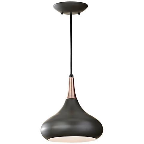 Feiss beso 10 wide dark bronze mini pendant x4101 lamps plus feiss beso 10 wide dark bronze mini pendant aloadofball Gallery
