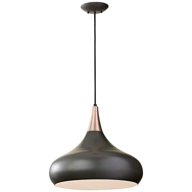 "Feiss Beso 18"" Wide Dark Bronze Pendant Light"
