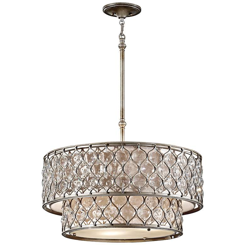 """Feiss Lucia 24 1/2"""" W Burnished Silver Pendant Light"""